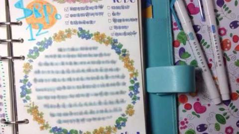 每日所在写写写|第一次手帐分享视频