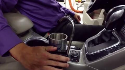 汽车上的饮水机,水产自汽车,怎么变的