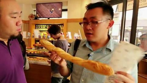 巴黎的法棍 奶酪 大煎饼