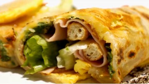 健康美味的培根蛋卷饼制作方法