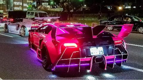 【街头上的豪车聚会】各种兰博基尼!