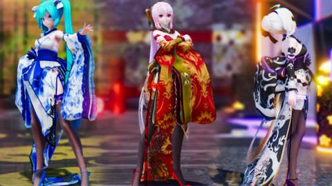 【不是所有旗袍都有振袖】浸在超现实光影下的三种振袖旗袍你更喜欢哪个 {Miku·Luka·Haku}