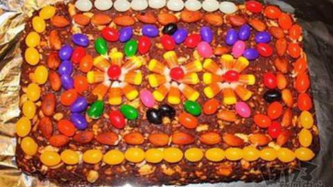 新疆切糕的制作过程