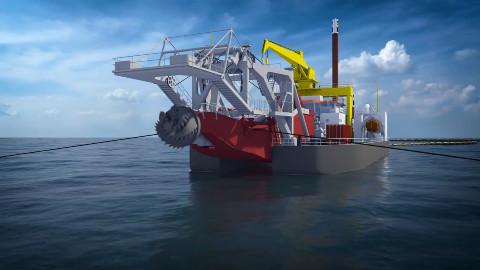 动画演示清淤船是怎么工作的,原理你懂了吗?