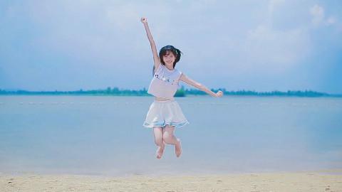 【若雪】水色summer days~让我们一起来清凉一夏吧!沙滩公园裸足系列