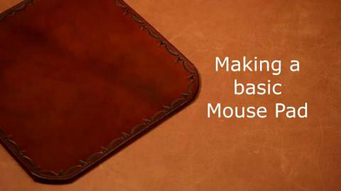 【手工皮艺】制作真皮鼠标垫