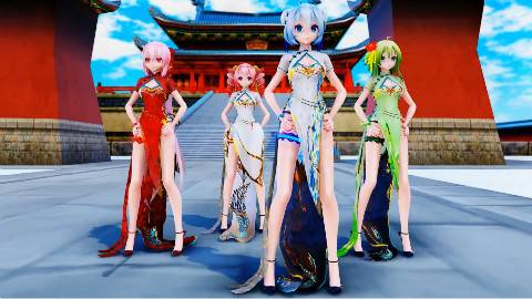 【营养消耗系列MMD】旗袍爵士 1798  China Dress Girls WG LIKE