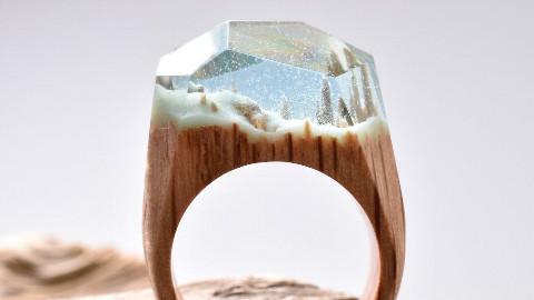 微观木戒指
