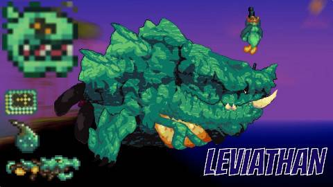 [灾厄Mod] BOSS演示 Leviathan利维坦