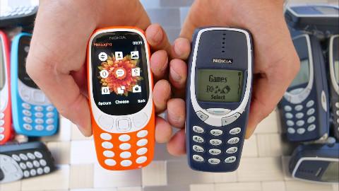 诺基亚3310新版与旧版的掉落测试,谁更为坚固?