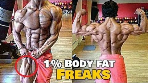 低到极致的体脂,危险的界限!健美健身视频