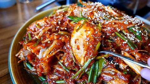 【韩国街头美食】辣炖安康鱼、狮子鱼...海鲜美食....