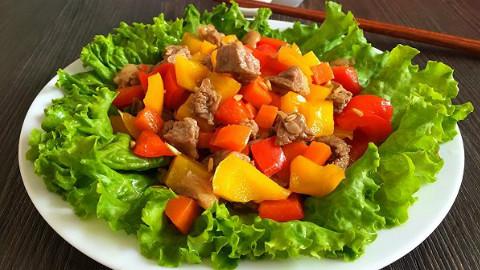 彩椒牛肉粒的精品做法