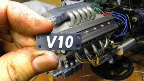 手工打造125cc微型V10发动机