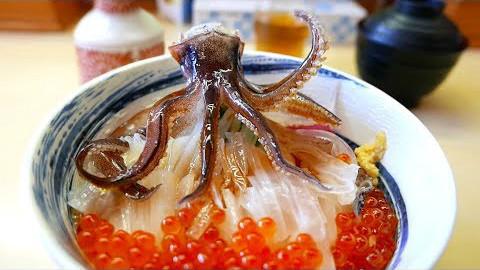 【日本街头美食】鱿鱼刺身日式海鲜.....