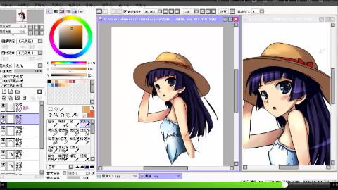 【新手向】SAI上色绘画教学-----终于可以画一幅完整的作品了