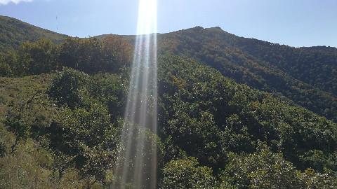阳光明媚的日子 登北灵山看秋景 阳光女孩的微笑旅途