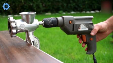 电钻安上弯铁钉有什么用,满满的神技能啊!