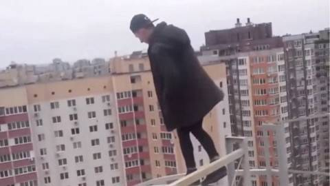2016街头跑酷高楼跑酷失败集锦