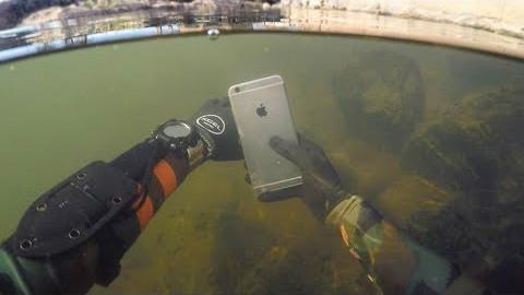【soso字幕】河底寻宝 找到了iPhone 6 能开机吗(还有其他几人的视频)@Sofronio