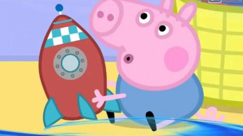 小猪佩奇终于学会了吹口哨