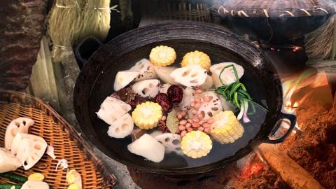 寒冬腊月,腊排骨火锅和一碗小酒,烫嘴暖人心 @胖胖的山头