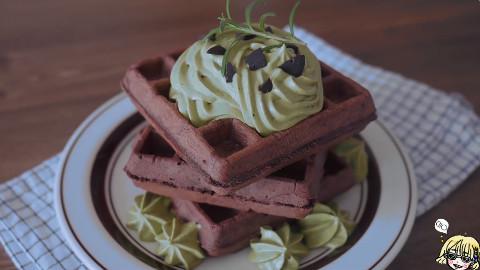 原来巧克力华夫饼这么容易做!我的早餐和下午茶有着落了!