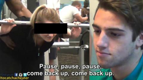 小伙看到女朋友健身视频后,整个脸都绿了!