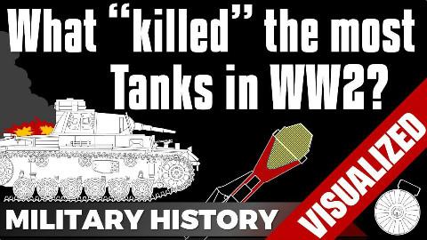 【自制字幕】怎样击毁一辆二战坦克?空袭和火炮谁更有效?
