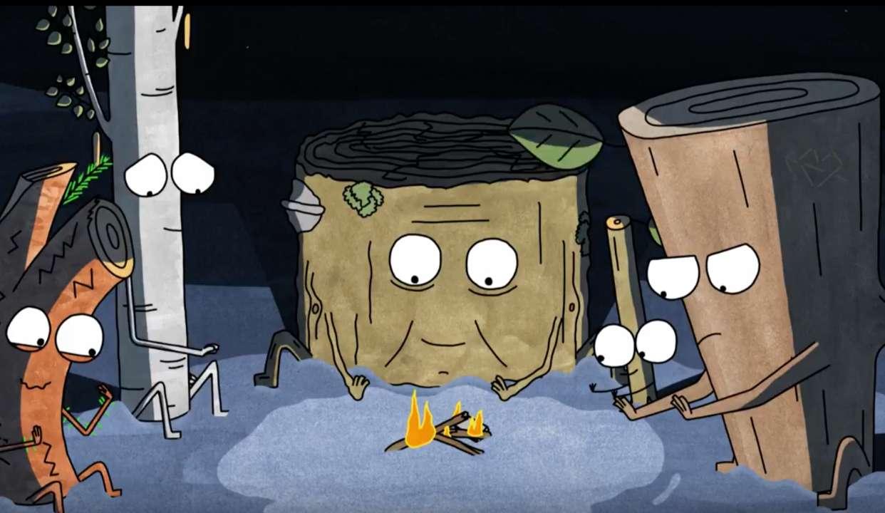充满讽刺与黑色幽默,轻萌反思动画:《木头与柴火》