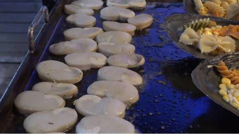 【韩国街头小吃】风味芝士烤鲜贝