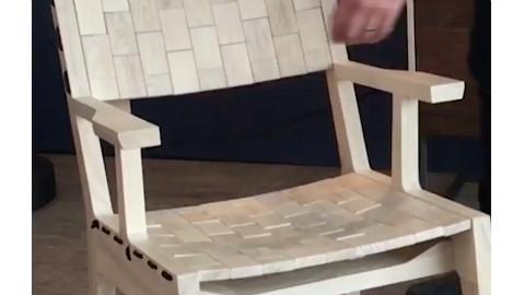 这椅子值3000刀?把家里凉席拆掉,自己做!
