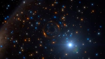 黑洞推动星系团周围恒星的运行