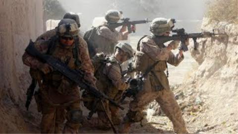 阿富汗战争|美国海军陆战队与塔利班激烈交火记录