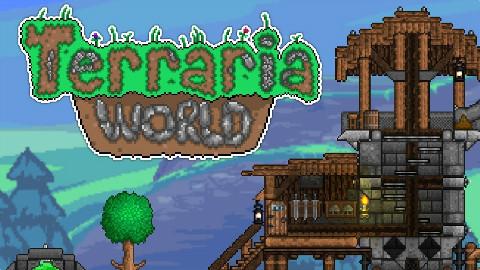 [直播录像] 超级Terraria世界 (MMORPG, Alpha版)