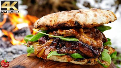 【丛林烹饪】深夜报社!牛排汉堡~