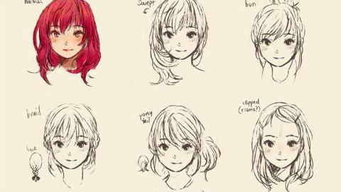 【绘画教程】动漫绘画之发型绘制详解