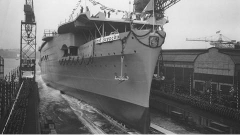 【讲堂294期】二战德国的唯一一艘航母,沉入海底之后,苏联又捞上来击沉第二次