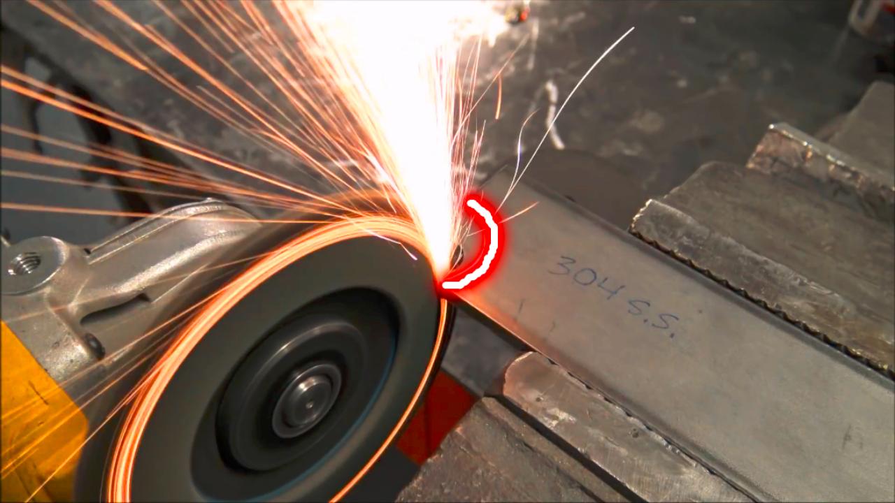 钢板上切一个圆弧,你会发现作用超乎想象,真没想到还能这样用