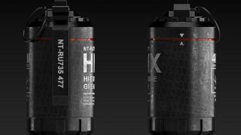 3dmax高爆手雷PBR流程高模制作