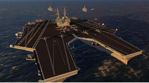 """中国5万吨""""蜈蚣""""超级运输车, 1152个轮胎轻松扛起数万吨航母!"""