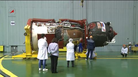 联盟号MS-09飞船发射准备
