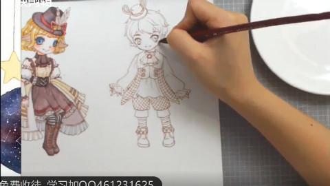 【手绘水彩画】画水彩插画如何快速突出效果?教你学会画水彩小正太!
