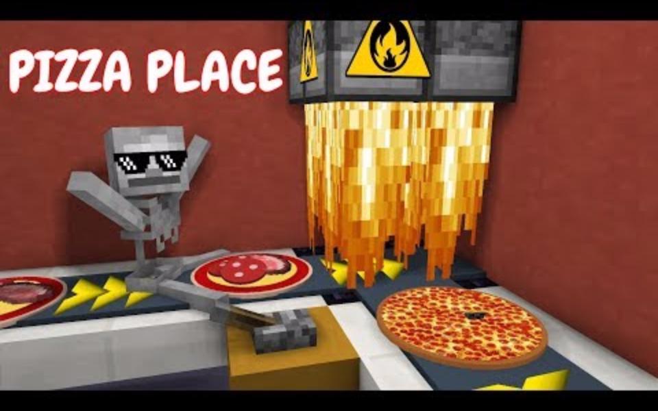 我的世界:怪物学院另类搞笑版披萨店兼职游戏
