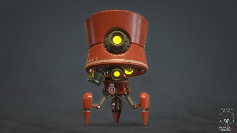 3DMAX小型机器人模型制作教学二