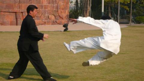 中国摔跤遭遇太极推手挑战,谁是赢家?这才是实战格斗