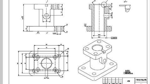 【CATIA】底座2——工程图