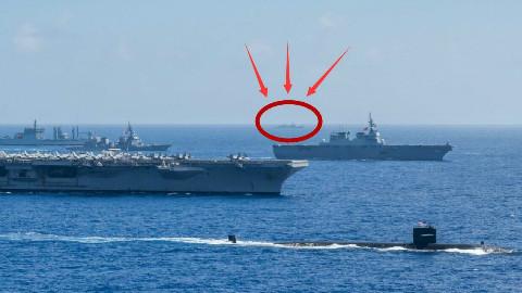 【点兵760】美日印联合军演遭围观 中国侦察船:我就在外面静静看着