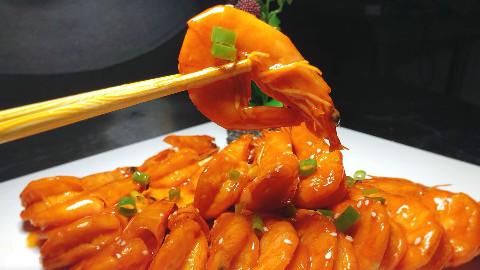 大厨教你做茄汁大虾的家常做法,简单易学习