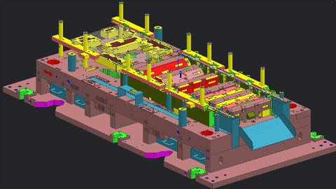 工厂老设计技术分享模具设计汽车向上折弯成型模具结构,看完操作,无愧年薪20W!